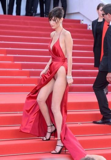 Bella Hadid causou furor no Festival de Cinema de Cannes, em maio passado
