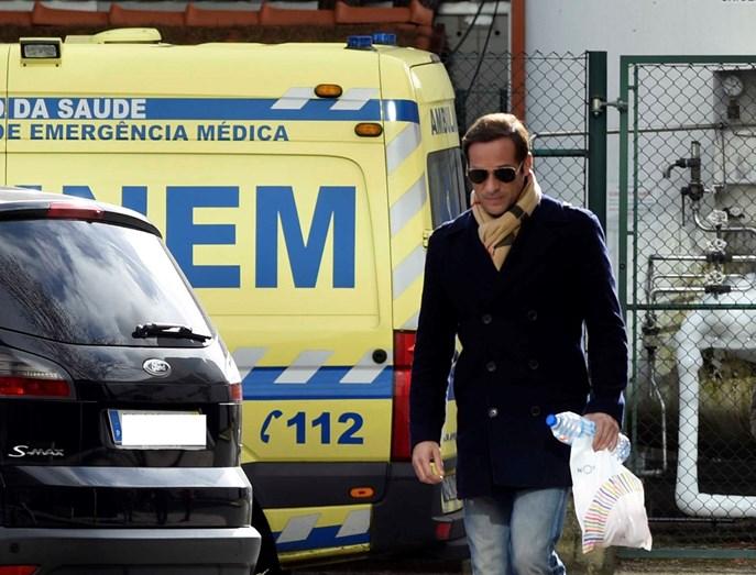 José Carlos Pereira à chegada ao Hospital de São Francisco de Xavier quando foi pai
