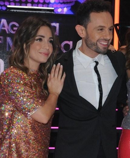 Luciana Abreu e João Paulo Rodrigues mantiveram um certo clima de 'flirt' durante o programa que antecedeu 'Just Duet', agora no ar