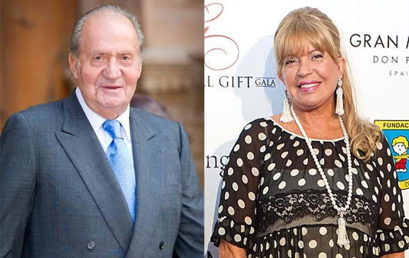 O rei e a apresentadora Barbara Rey foram amantes durante muitos anos e ela alegadamente terá cobrado pelo seu silêncio