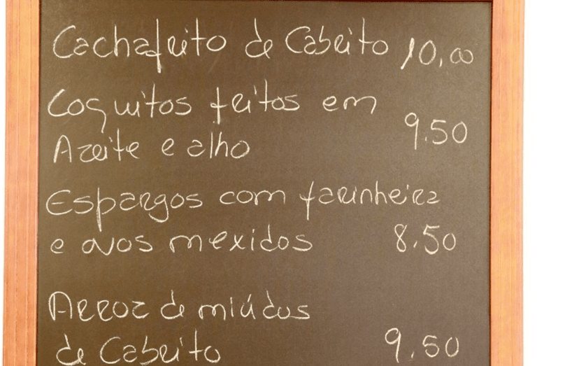 Um pormenor do restaurante 'Tintos e Petiscos'