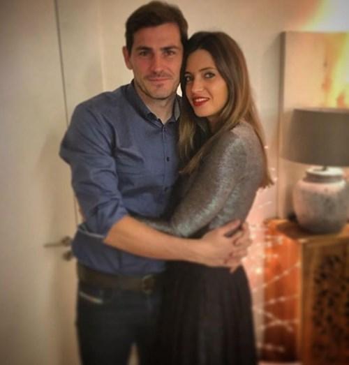 Iker Casillas e Sara Carbonero na noite da passagem de ano