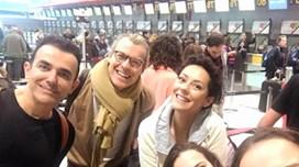 Sofia Ribeiro e Iva Domingues a caminho do Brasil