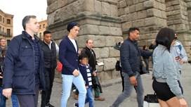 Ronaldo, Georgina, Cristianinho e Dolores em Segóvia