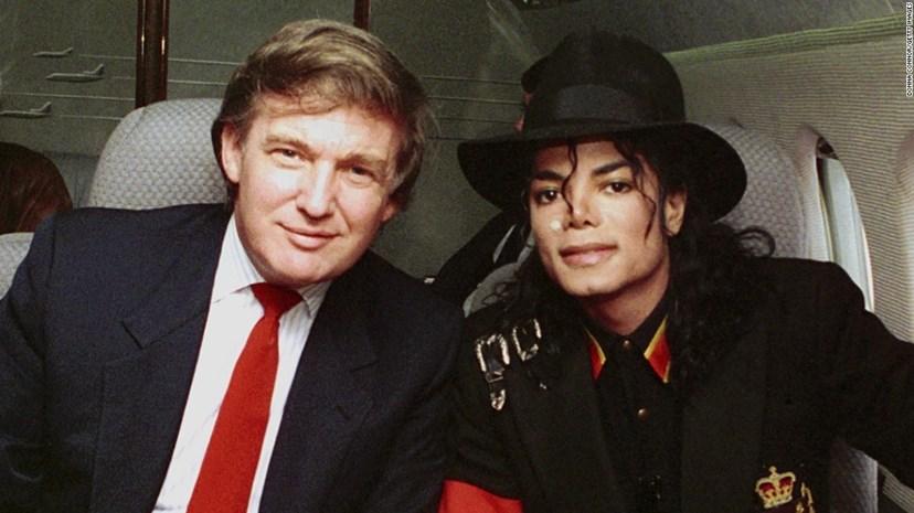 Donald Trump com Michael Jacson