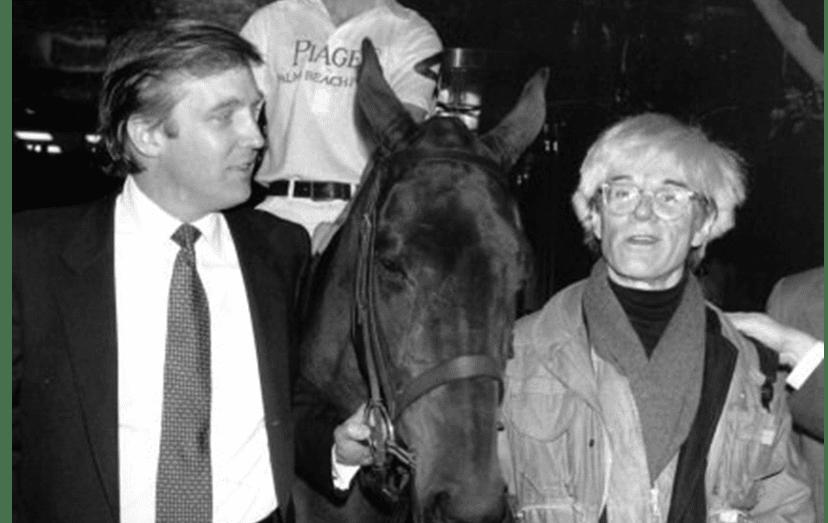 O magnata com Andy Warhol, em 1983