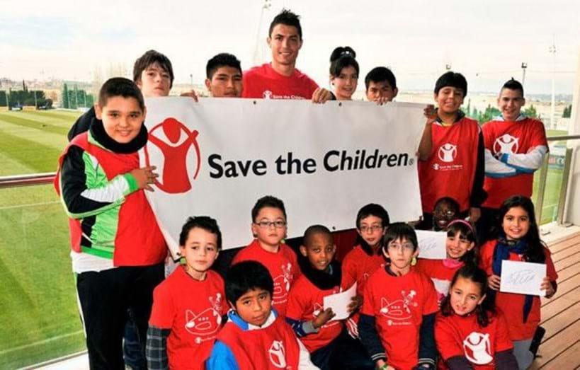 Cristiano Ronaldo juntou-se à organização 'Save the Children'