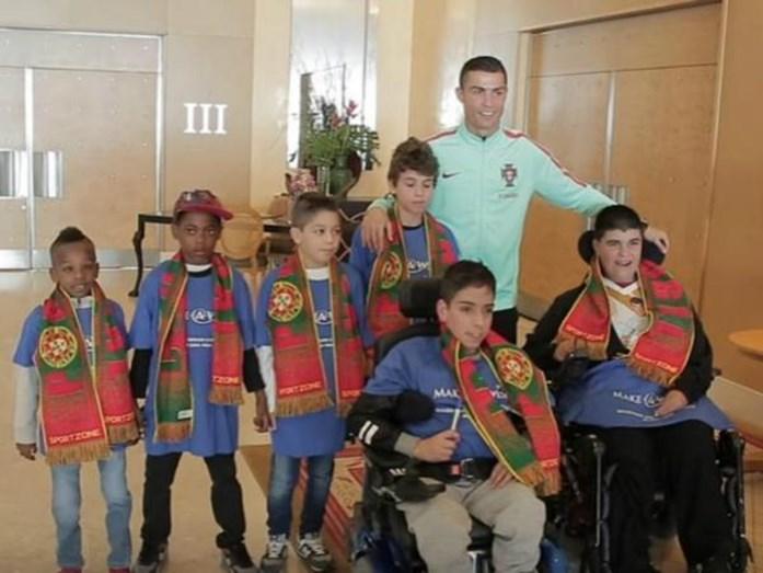 Cristiano Ronaldo realizou o sonho de 6 crianças doentes