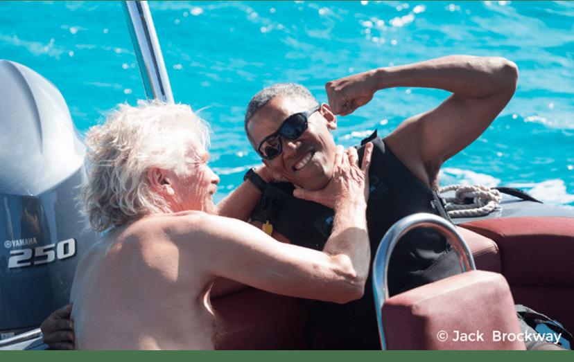 Richard Branson e Barack Obama