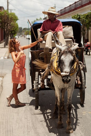 Joana Câncio, em Ciego de Ávila, Cuba