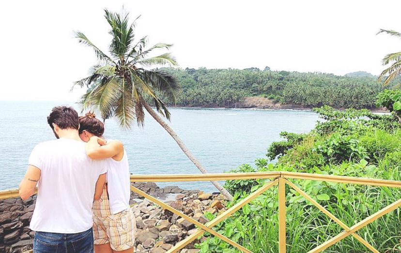Cláudia Vieira com João Alves em São Tomé e Príncipe, numa foto rara juntos e sozinhos nas redes sociais