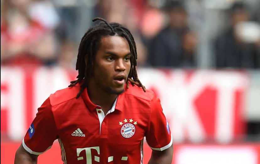 Renato Sanches com a camisola do Bayern de Munique