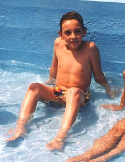 Rui Pedro quando criança