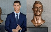 Busto de Cristiano Ronaldo está a mexer com as redes sociais