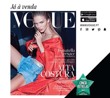 Vogue de abril nas bancas
