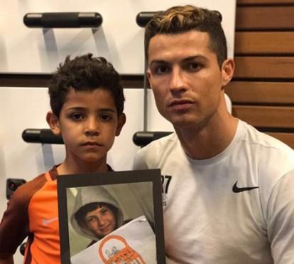 Ronaldo e Cristianinho juntos pelas crianças da Síria