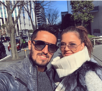 """Futebolista Hugo Vieira recupera felicidade com namorada e filha Bianca: """"Os sonhos tornam-se em amor"""""""