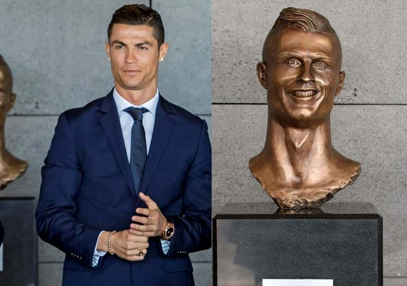 Aeroporto Cristiano Ronaldo : O banquete da palavra busto do cristiano ronaldo no