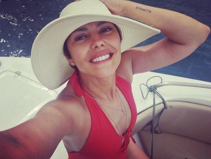 Sofia Ribeiro de férias