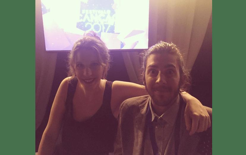 Salvador Sobral e Luísa Sobral quando ainda esperavam pelos resultados do Festival da Canção. Apesar disso, estiveram sempre descontraídos, durante o concurso, que Coliseu dos Recreios, em Lisboa