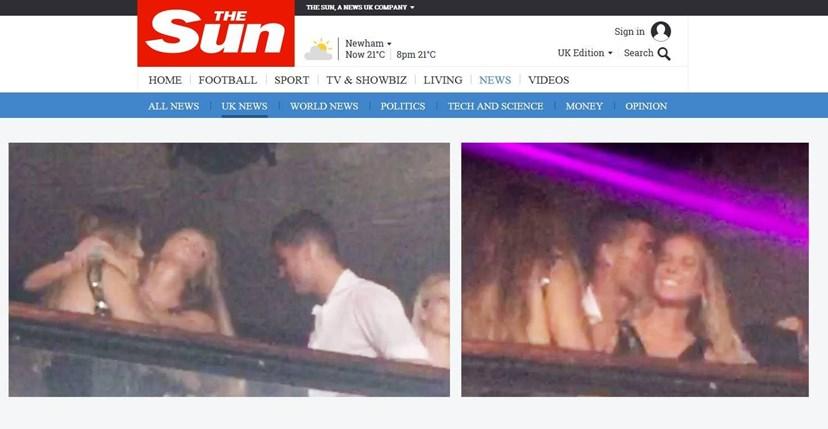 Cristiano na noite de Miami com duas mulheres