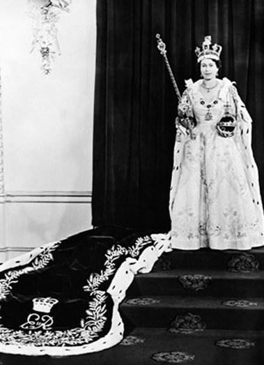 A coroação de Isabel II, dia 2 de junho de 1953.