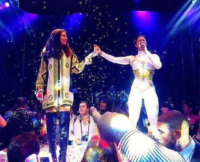 Ana Malhoa e a filha Índia em concerto