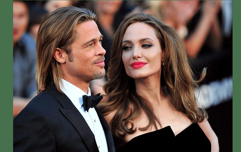 Brad Pitt e Angelina Jolie ainda casados