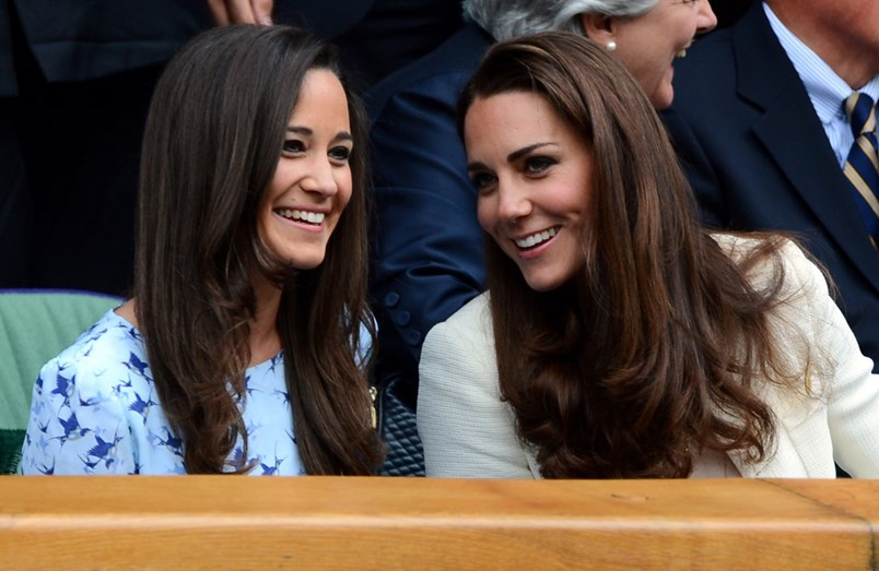 Pippa Middleton com a irmã Kate