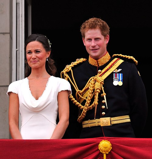 Pippa Middleton e o príncipe Harry no casamento de Kate Middleton e William, em 2011
