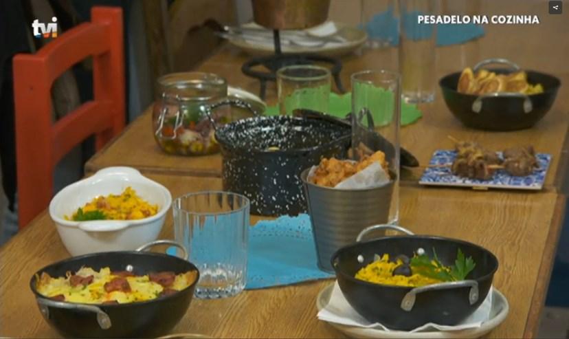 Como o chef queria a apresentação dos pratos...