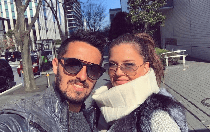 Hugo Vieira e a namorada, a sérvia Nina