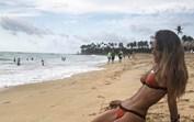 Carolina Patrocínio mostra tudo em Punta Cana