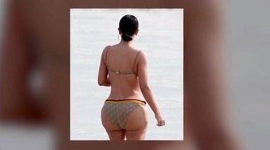 Férias de luxo: Kim Kardashian criticada devido a celulite no rabo
