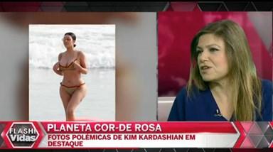 As polémicas curvas de Kim Kardashian no Planeta Cor de Rosa