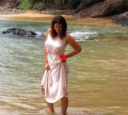 Inês Simões deslumbrada com beleza de São Tomé e Príncipe