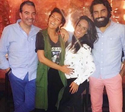 Sofia Ribeiro: festa no Rio com Ricardo e Francisca Pereira e Nuno Santos