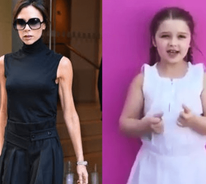 Assustador: Victoria Beckham é mais magra do que a filha