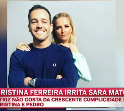 """Amo-te"" de Cristina Ferreira a Pedro Teixeira irrita Sara Matos"
