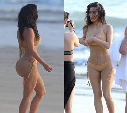 Kim Kardashian: as curvas mais famosas do mundo também têm celulite