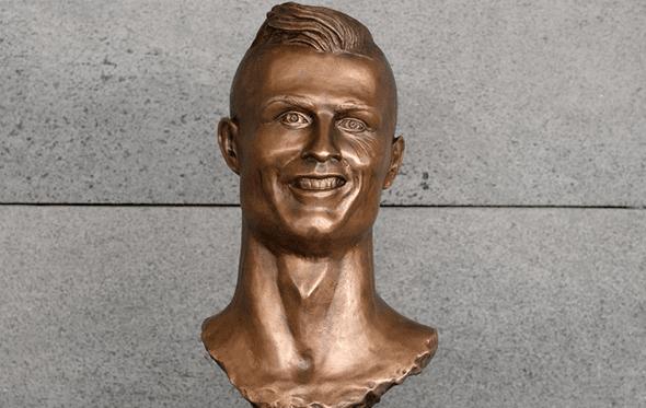 O polémico busto de Cristiano Ronaldo da autoria de Emanuel Santos