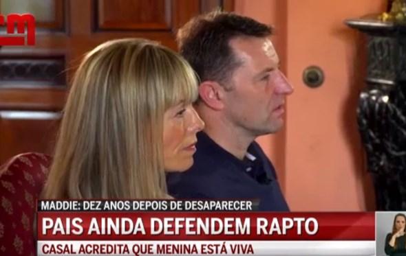 Pais de Maddie dão entrevista nos 10 anos do desaparecimento da filha
