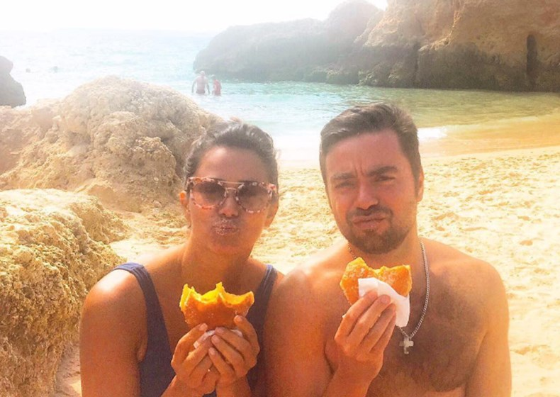 Cláudia Vieira no Alentejo e no Algarve