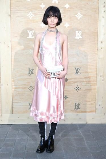 Festa de lançamento das carteiras de Louis Vuitton com Jeff Koons