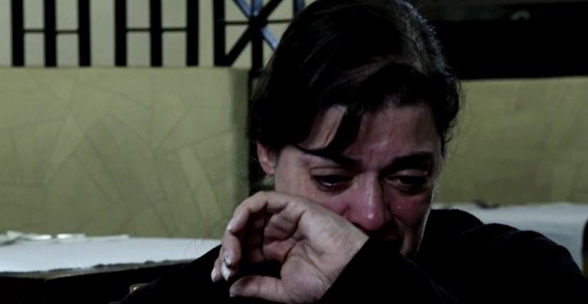 A proprietária, Patrícia, durante as gravações do programa