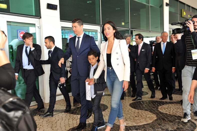 Na inauguração do Aeroporto Cristiano Ronaldo