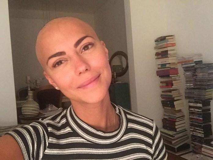 Sofia Ribeiro durante os tratamentos de quimioterapia, na luta contra o cancro da mama