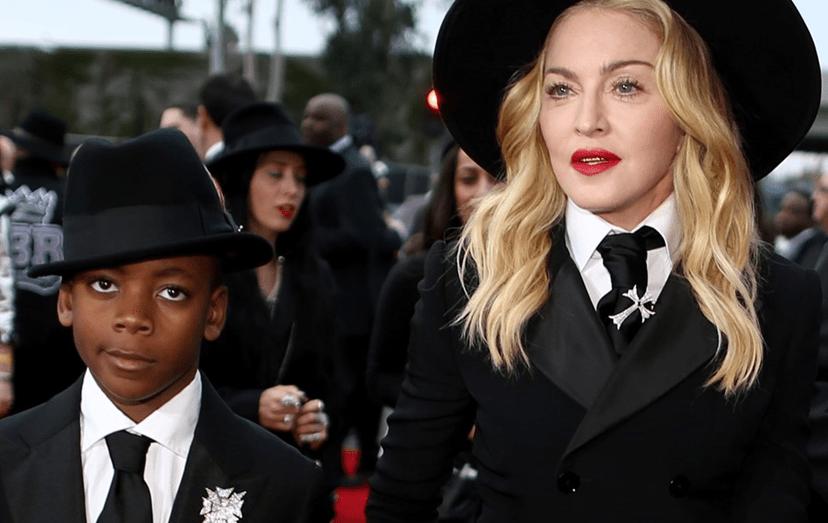Madonna e o filho David Banda