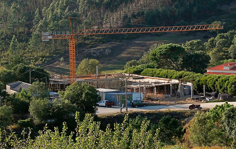 A mansão de Cristina Ferreira na Malveira (aqui em construção), está avaliada em 1 milhão de euros.