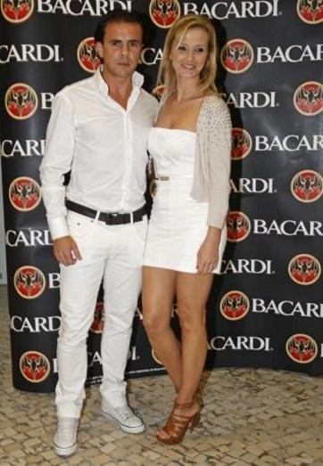 Em 2010, o casal na festa da TVI, no Algarve